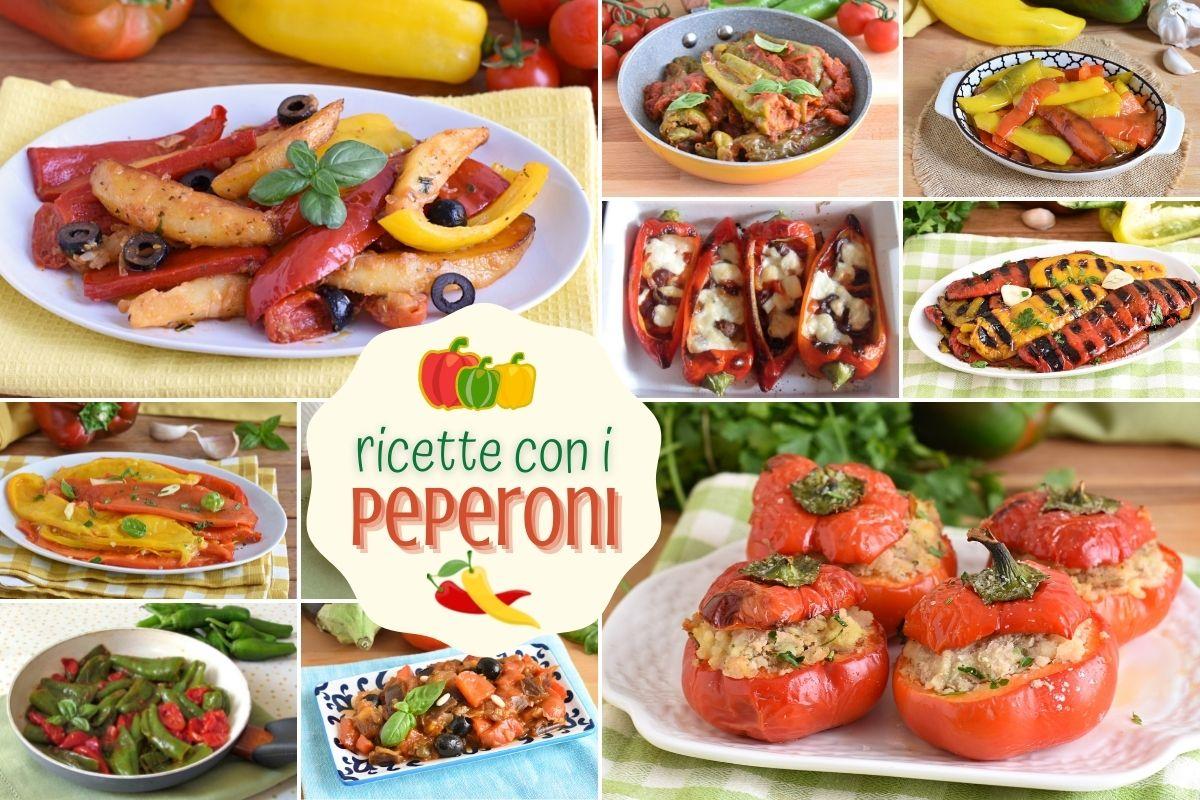 ricette con i peperoni facili e veloci contorni antipasti primi e secondi estivi il chicco di mais