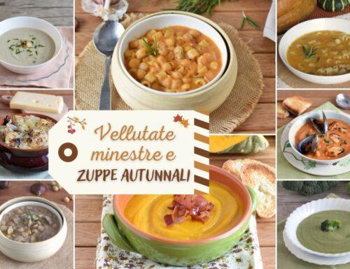 Vellutate, minestre e zuppe autunnali