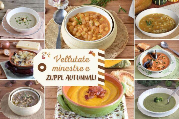Raccolta di ricette per vellutate minestre e zuppe autunnali con zucca funghi castagne ceci il chicco di mais