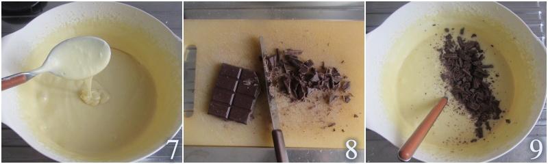 ciambella al mascarpone con gocce di cioccolato alta e soffice il chicco di mais 3 unire farina