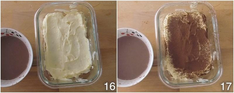 dolce con biscotti secchi e crema al mascarpone ricetta tiramisù per bambini senza caffè e senza uova crude oro saiwa 6 primo strato