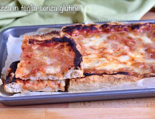 Pizza senza glutine in teglia