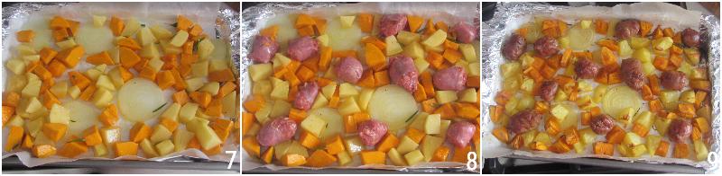 zucca salsiccia e patate al forno ricetta secondo economico autunnale facile e veloce il chicco di mais 3 cuocere in forno
