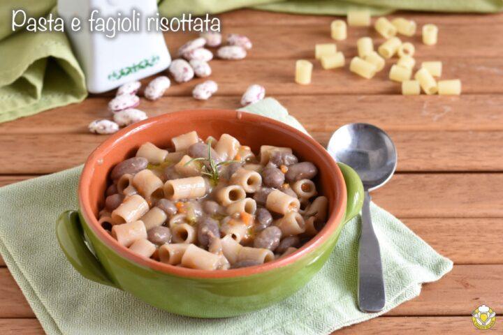 pasta e fagioli risottata cremosa senza frullare fagioli ricetta napoletana il chicco di mais