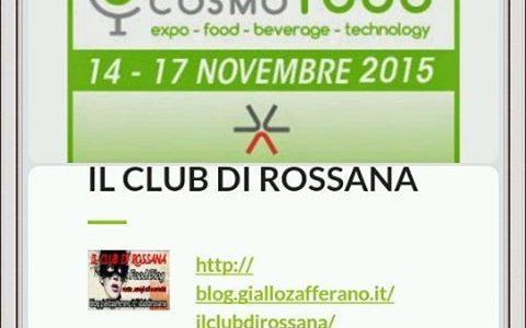 14-17 Novembre 2015 Cosmofood presso la Fiera di Vicenza