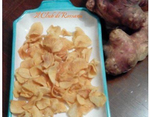 Chips  di Topinambur