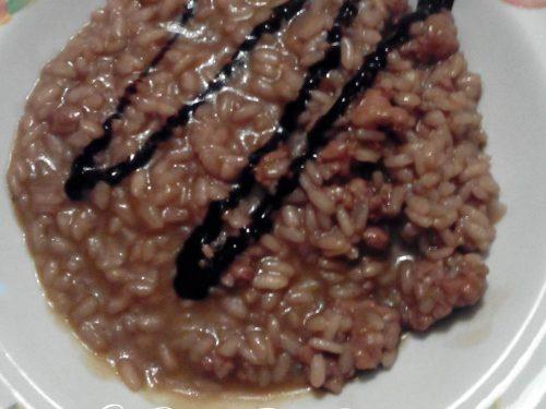 Risotto con salsiccia e aceto balsamico