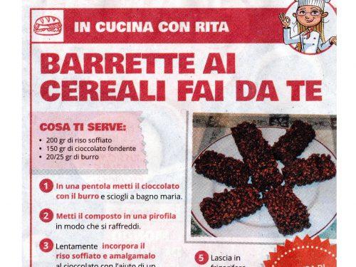 """La mia ricetta """"Barrette ai cereali fai da te"""" su IL MATTINO DI PADOVA"""