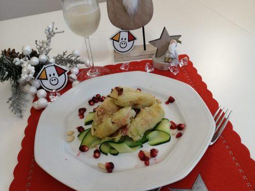 Porri ripieni di patate, pinoli e salame Napoli Clai