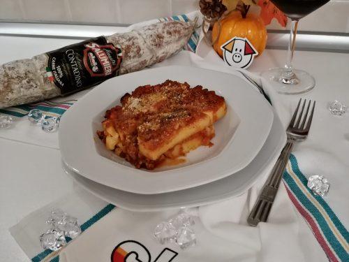 Polenta Veneta pasticciata con Salame Contadino CLAI
