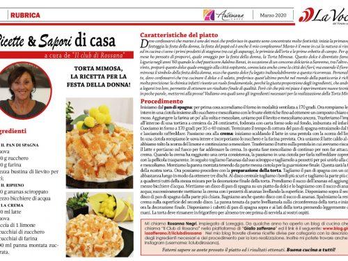 Il Club di Rossana su La Voce del Veneto Centrale mese Marzo 2020