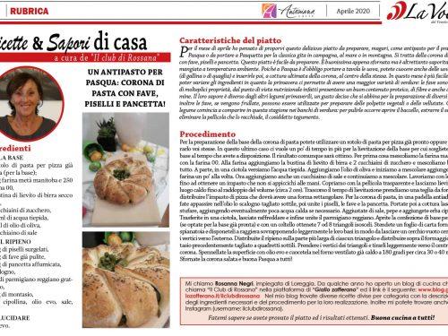 Il Club di Rossana su La Voce del Veneto Centrale mese Aprile 2020