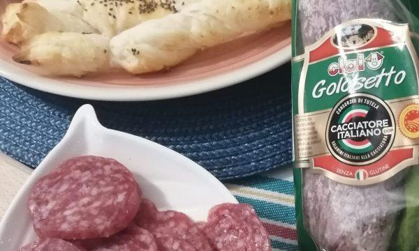Grissini al formaggio con Salame Golosetto Clai