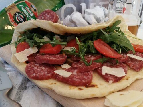 Piadina con salame Golosetto Clai