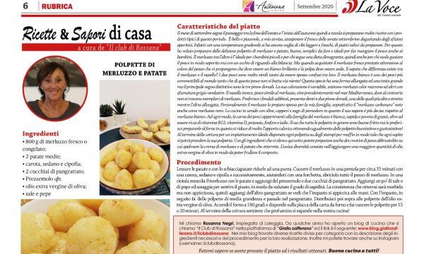 Articolo di Settembre 20 su La Voce del Veneto Centrale