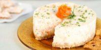 Torta di formaggio e salmone