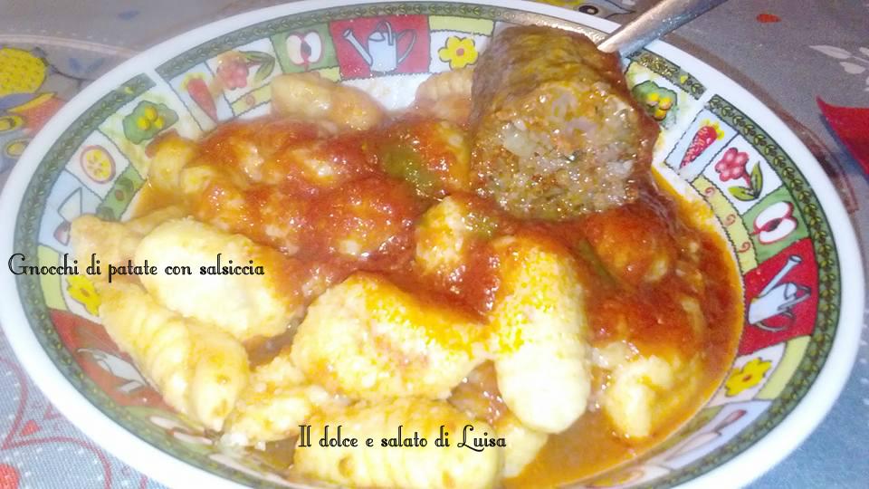 Gnocchi di patate con salsiccia