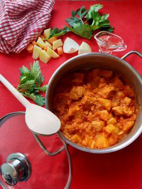 spezzatino di maiale con patate pronto