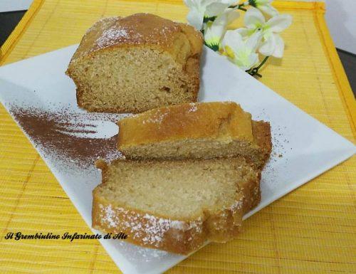 Plumcake con amaretto e succo di agave