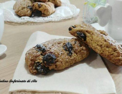 Biscotti integrali con acqua.