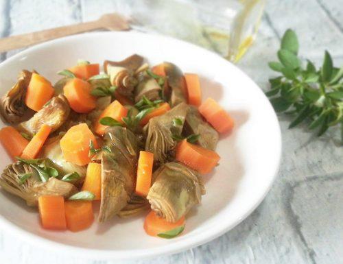 Carciofi con carote al limone