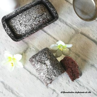 Plumcake all'acqua e cacao