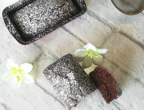 Plumcake all'acqua e cacao
