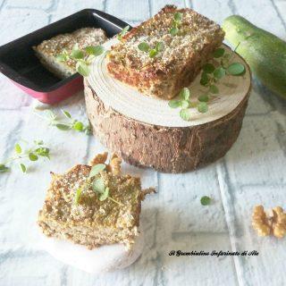 Sformato di zucchine con pecorino e noci