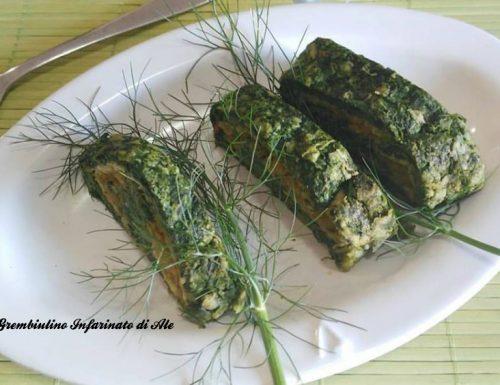 Rolle' di spinaci, zucca e provola.Ricetta vegetariana.