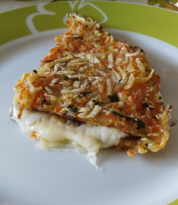 Trancetti di carote e patate farcite alla mozzarella