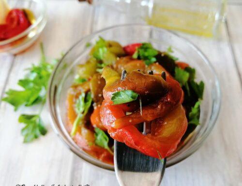 Peperoni arrostiti al forno al limone