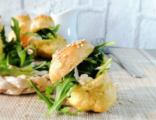 Bignè rucola e parmigiano