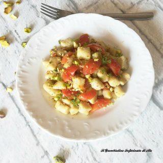 Gnocchetti acqua farina e pistacchio