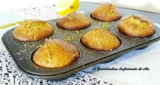 Muffin pistacchio e limone