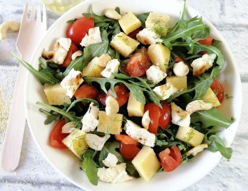 Insalata di polenta e feta greca