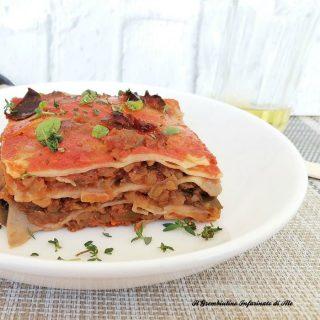 Lasagne al ragù di melanzane