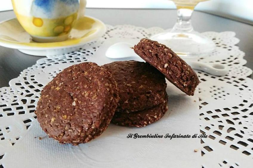 Biscotti integrali all'avena