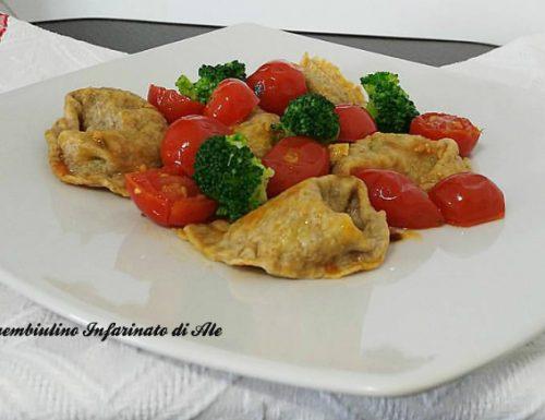 Tortelli integrali ai broccoli e noci