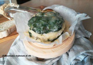 Sformato di spinaci e pane