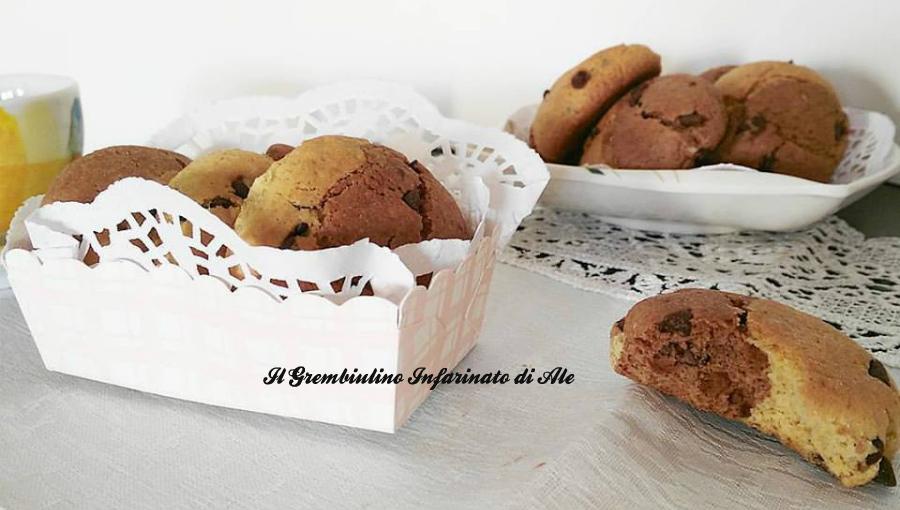 Biscotti bicolori cocco e arancia