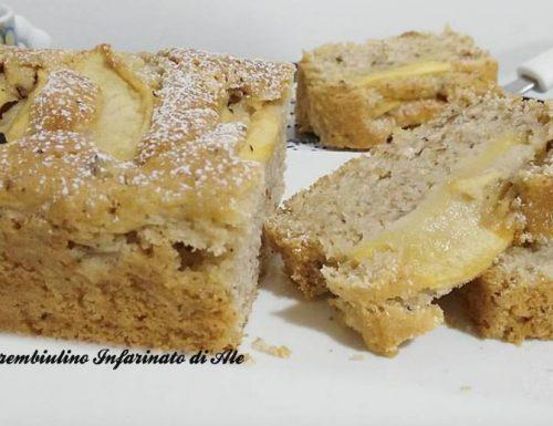 Plumcake alle mele con latte di mandorla e nocciole