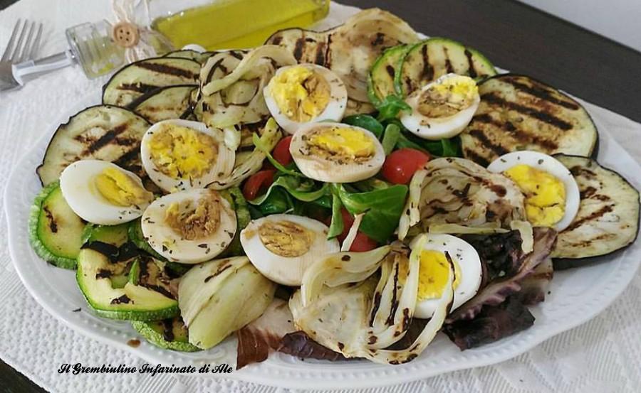 Insalata grigliata con uova sode il grembiulino for Cucinare uova sode