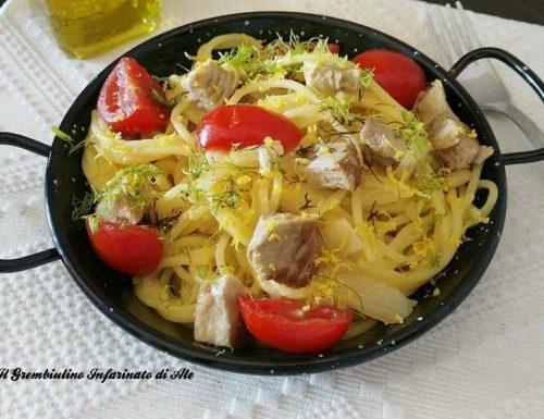 Spaghetti al trancio di tonno e finocchi