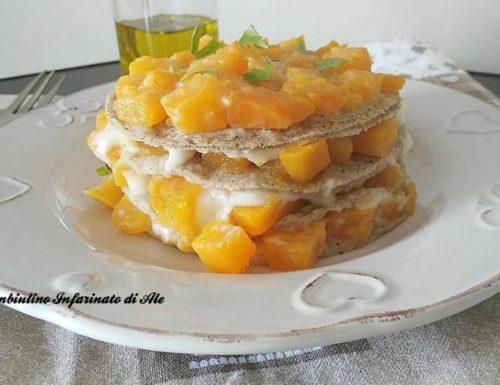 Lasagne di grano saraceno alla zucca