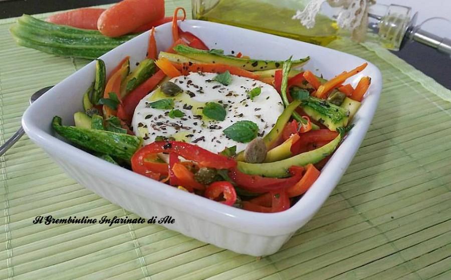 Primosale al forno con julienne di verdure il for Verdure alla julienne
