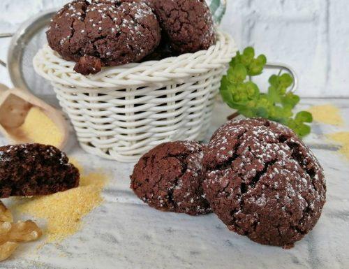 Biscotti al cacao con polenta cotta