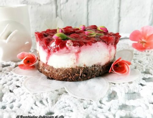 Ricotta dolce al miele con mousse di yogurt