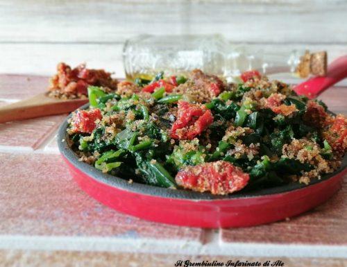 Broccoletti con crumble leggero