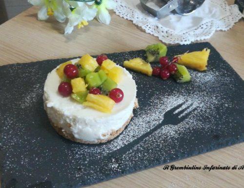 Tortine di fette biscottate e yogurt greco