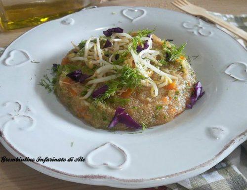 Pilaf di amaranto con verdurine